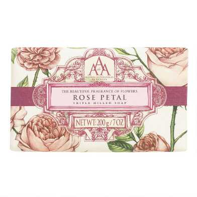 AAA Rose Petal Bar Soap, Set of 2