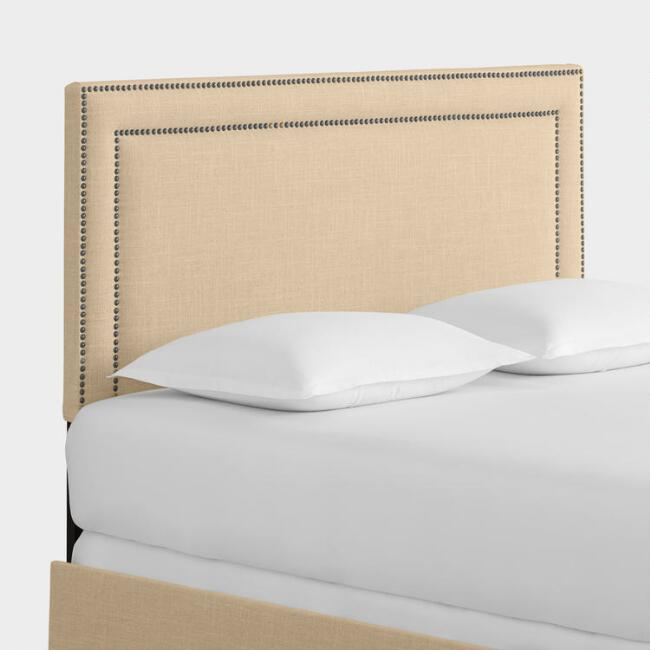 Linen Treyton Upholstered Bed