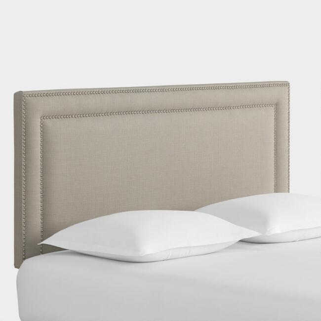 Textured Woven Treyton Upholstered Headboard