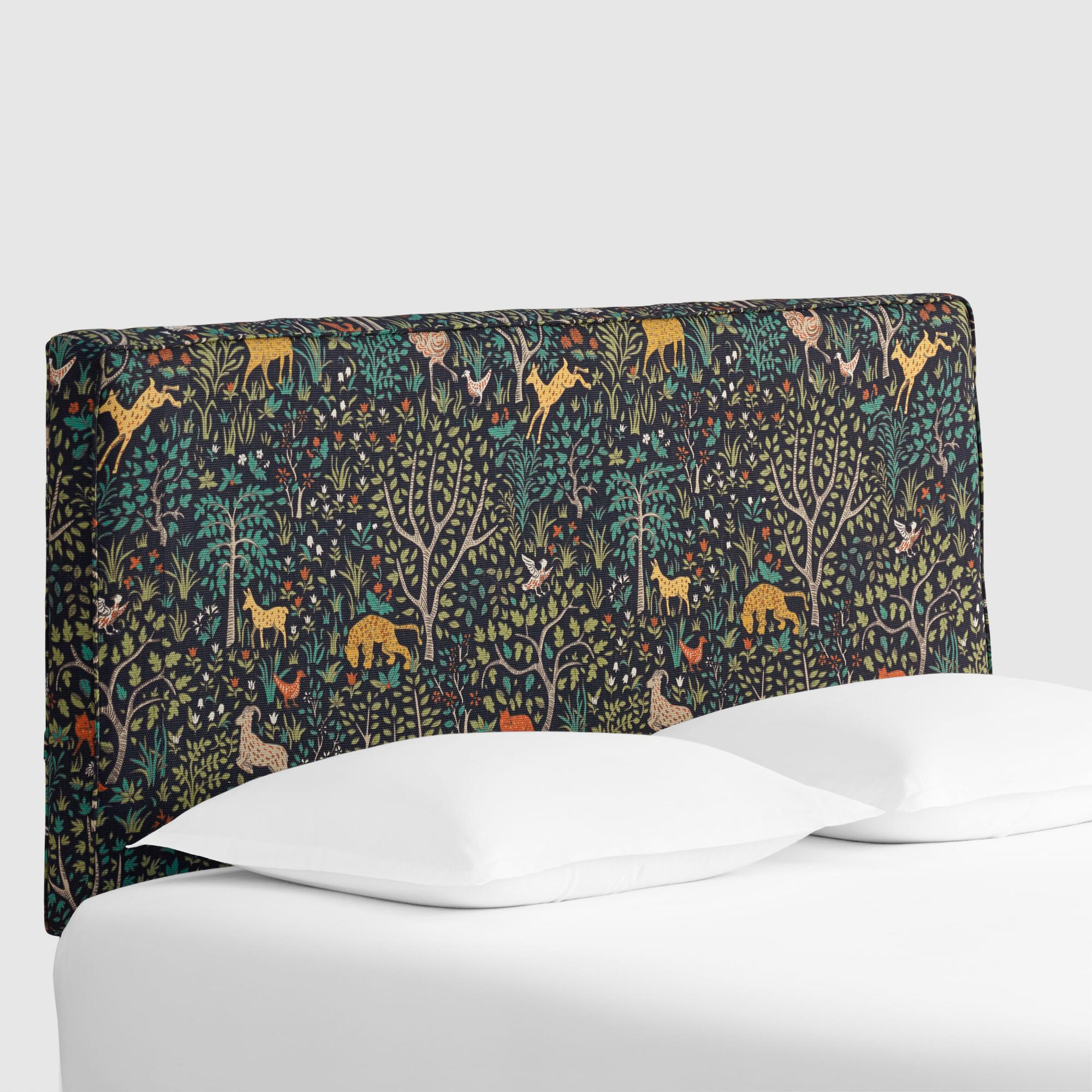 Folkland Loran Upholstered Headboard: Blue/multi - Fabric - King Headboard By World Market King