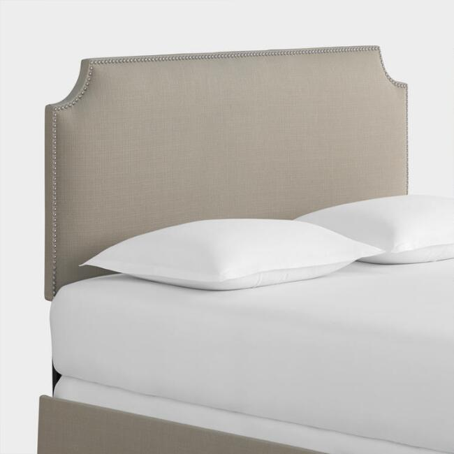 Textured Woven Caiden Upholstered Bed
