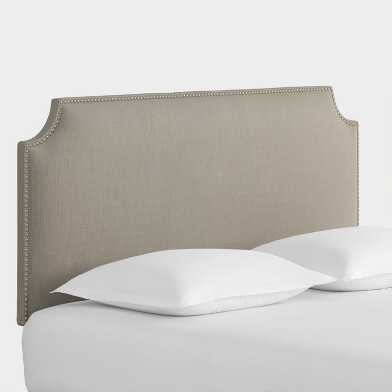 Textured Woven Caiden Upholstered Headboard