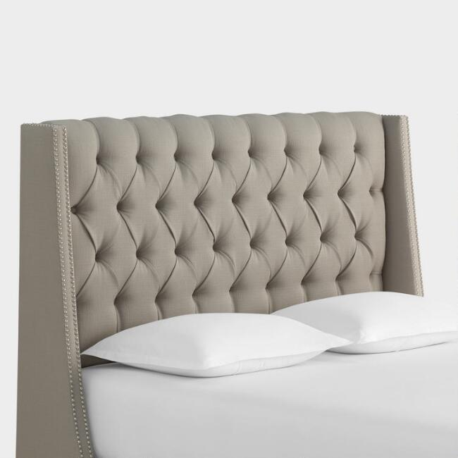 Textured Woven Kellerman Upholstered Headboard