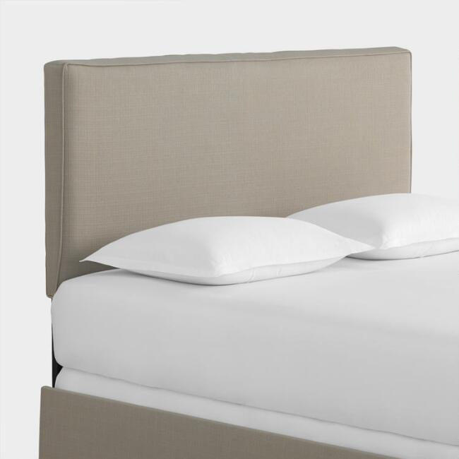 Textured Woven Loran Upholstered Bed