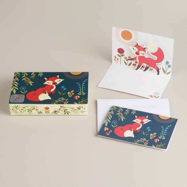 Fox Pop-Up Notecards