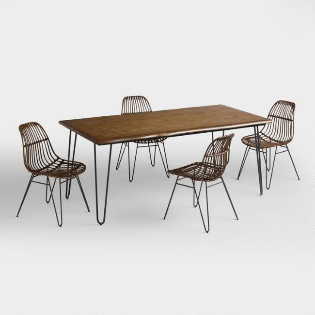 Wood Flynn Hairpin Dining Collection