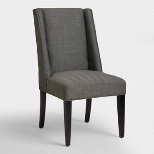 charcoal herringbone lawford dining chairs - Black Dining Room Chairs