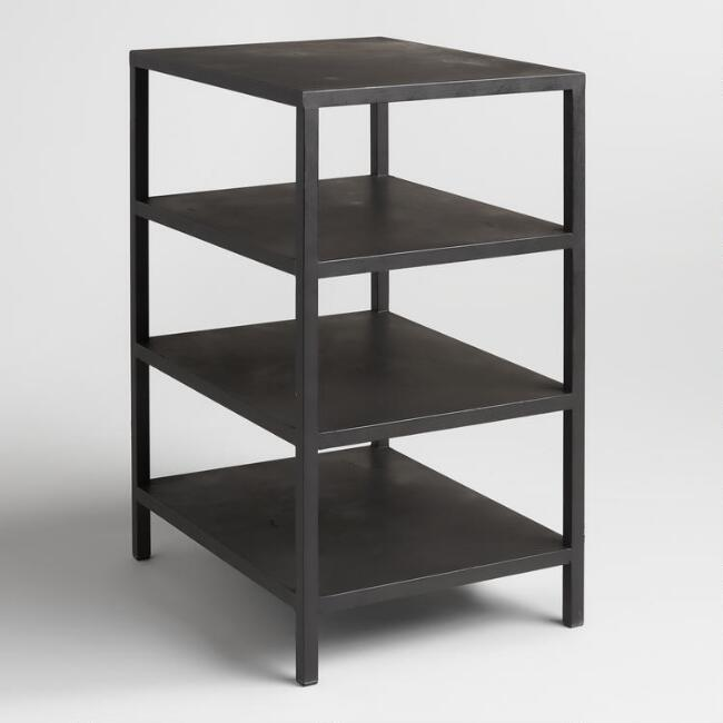 Black 3 Shelf Colton Mix & Match Desk Base