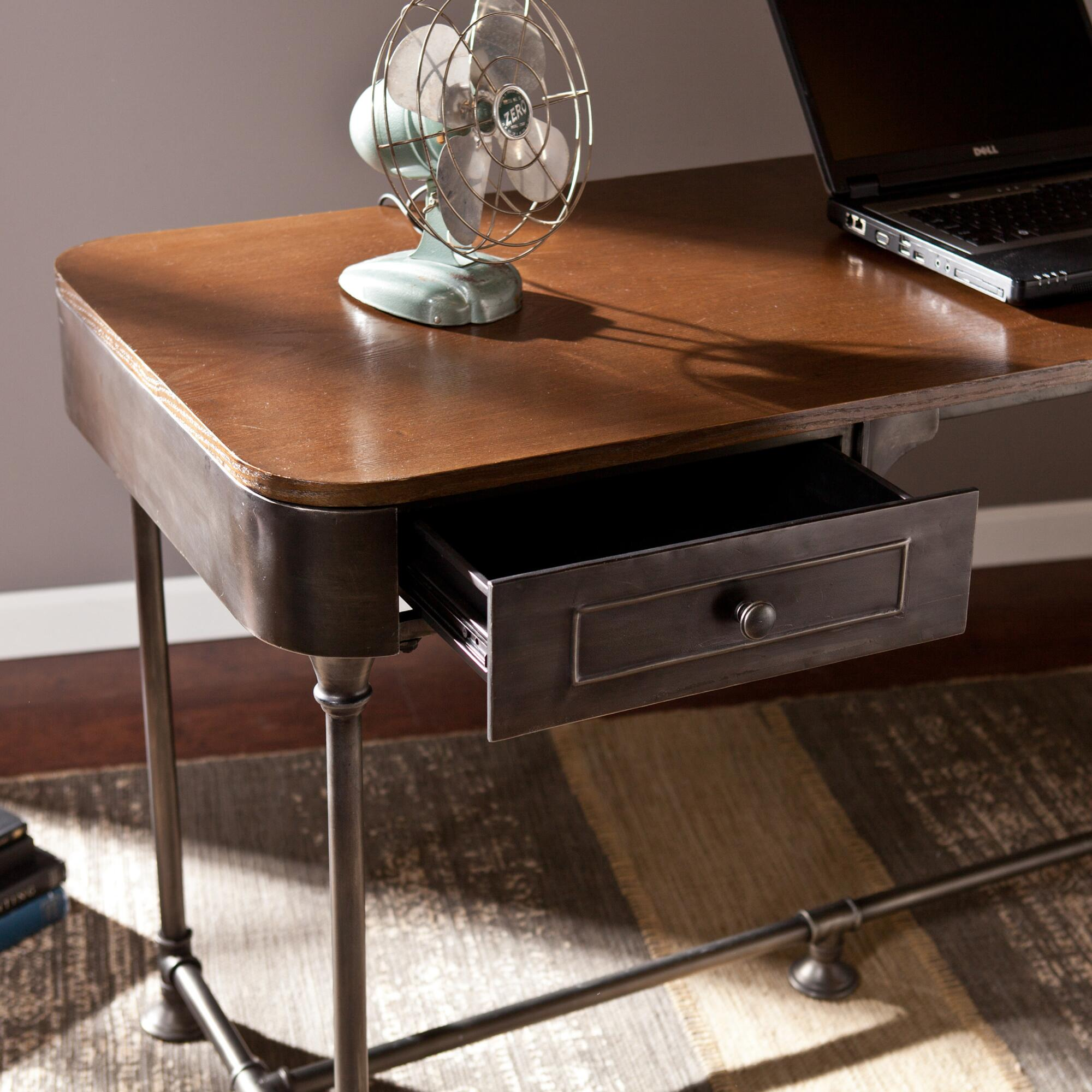 Wood and Metal Industrial-Style Desk | World Market