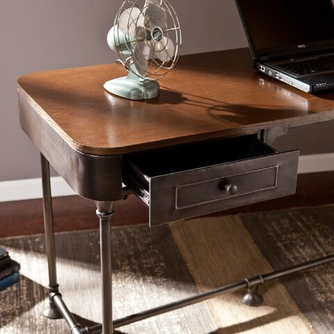 Wood And Metal IndustrialStyle Desk World Market - World market industrial table