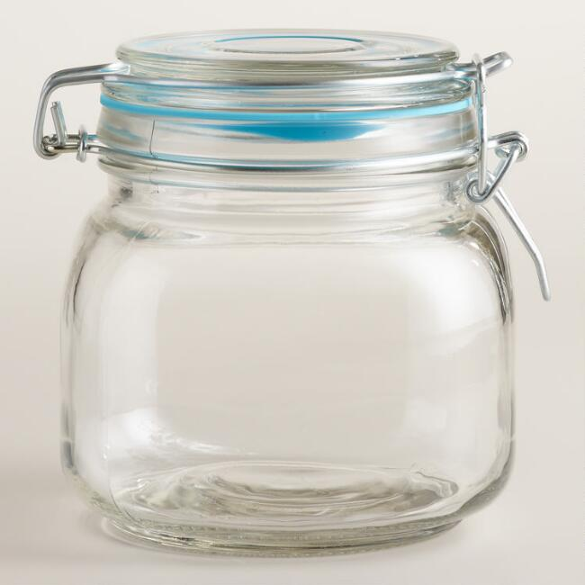 Small Glass Clamp Jars, Set of 12