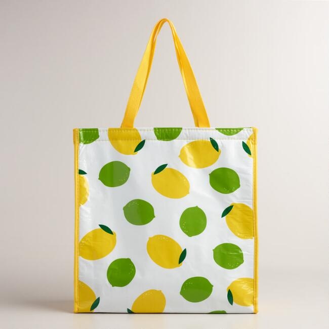 Lemon and Lime Insulated Tote