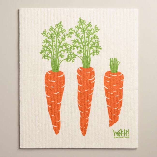 Carrots Wet-It Dishcloth