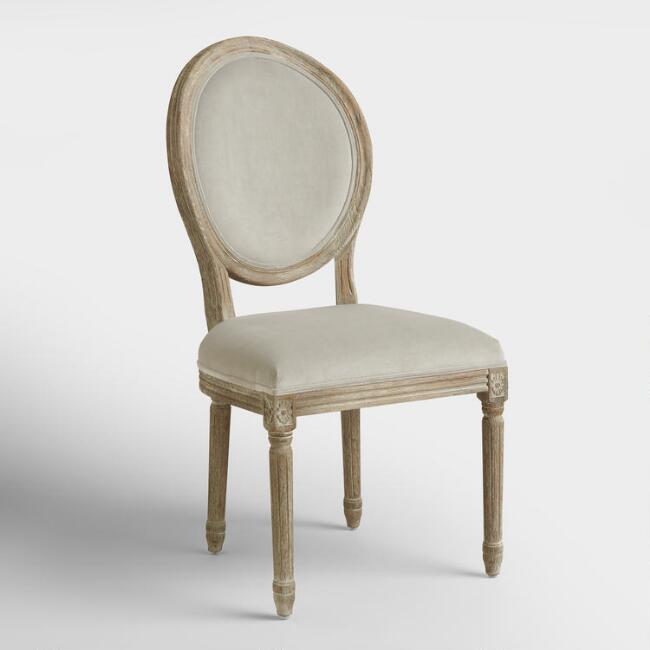 Dove Paige Round Back Dining Chairs, Set of 2