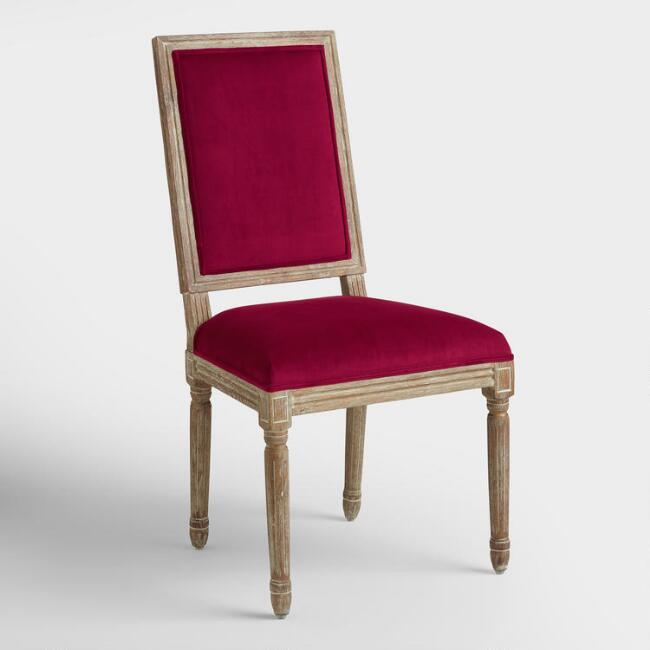 Merlot Paige Square Back Dining Chairs, Set of 2