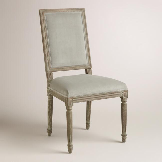 Dove Paige Square Back Dining Chairs, Set of 2