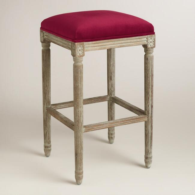 Merlot Paige Backless Barstool
