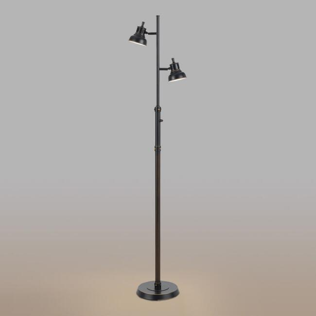 Dark Bronze 2-Light LED Floor Lamp