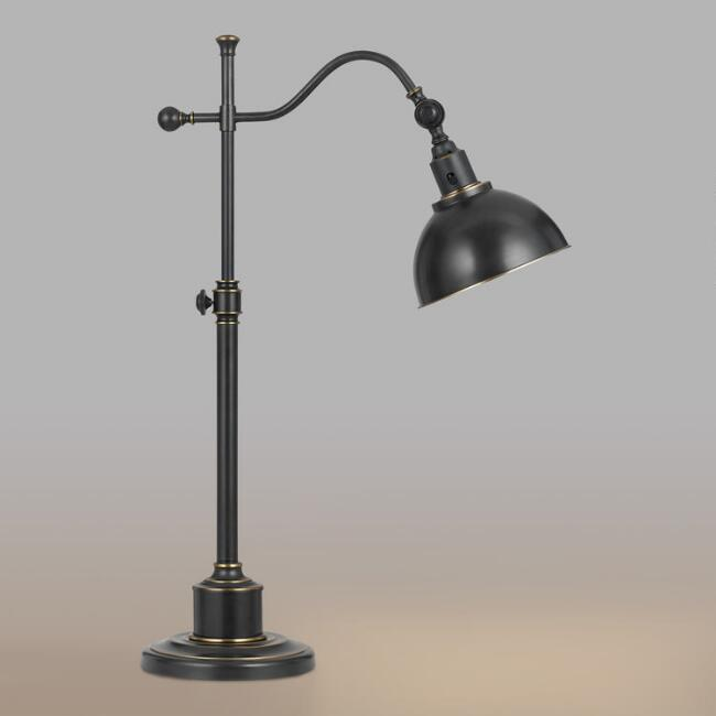 Oil rubbed bronze porter task table lamp world market oil rubbed bronze porter task table lamp mozeypictures Images