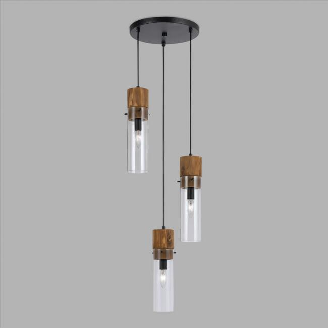 Wood and glass staggered 3 light pendant lamp world market wood and glass staggered 3 light pendant lamp audiocablefo