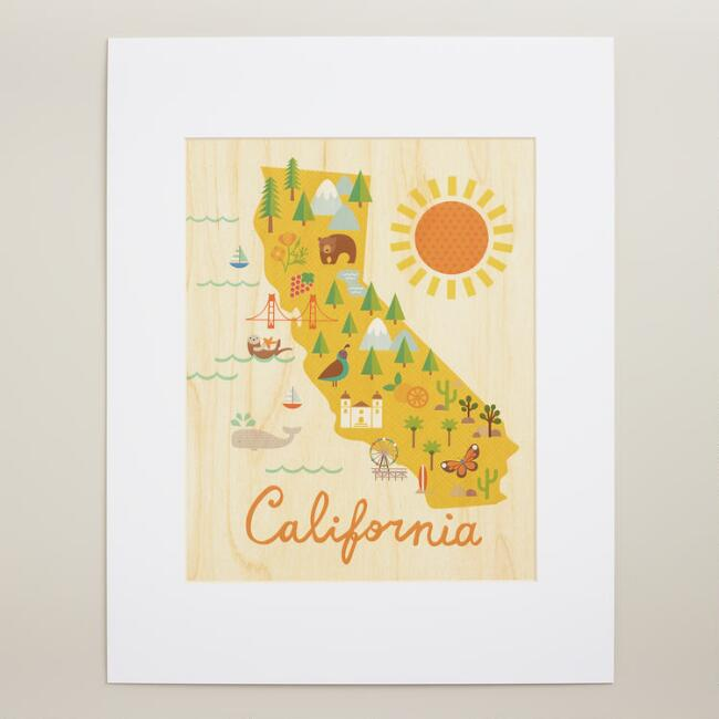 Large california map wall art world market large california map wall art gumiabroncs Image collections