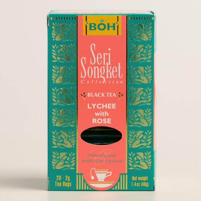 BOH Seri Songket Lychee with Rose Tea, 20-Count