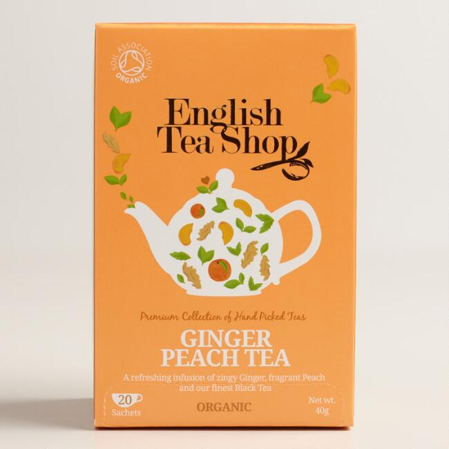 English Tea Shop Ginger Peach Tea, 20-Count