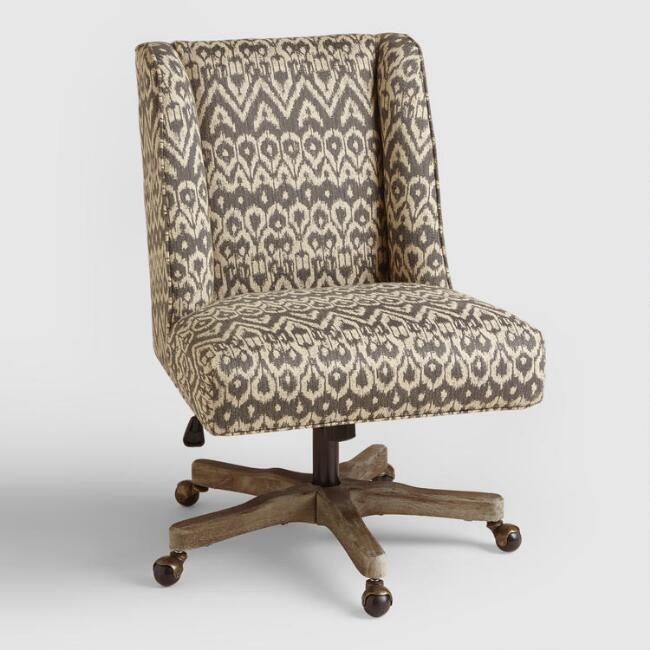 Driftwood Ikat Ava Upholstered Office Chair - Driftwood Ikat Ava Upholstered Office Chair World Market