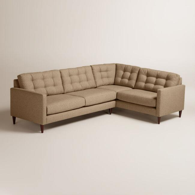 Chunky Woven Ryker Left-Facing Upholstered Sectional
