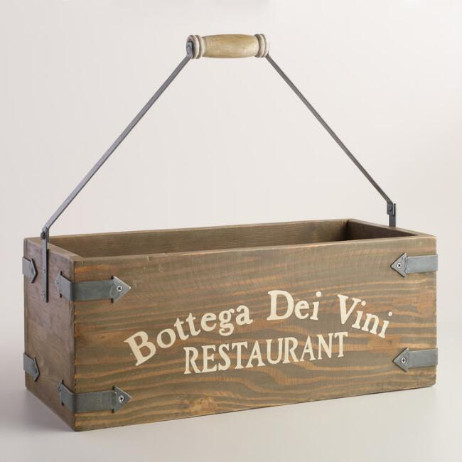 Wood Rectangular Bottega Crate