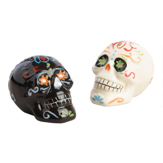 Los Muertos Ceramic Salt And Pepper Shaker Set