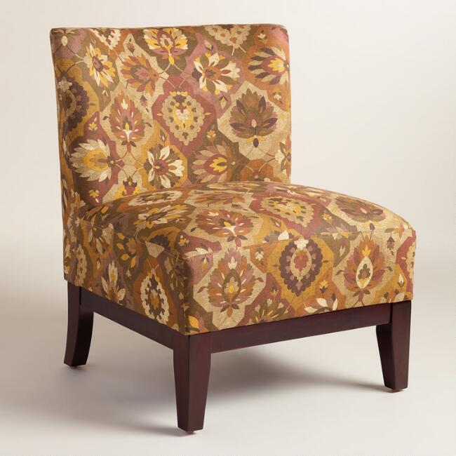 Floral Tiles Print Darby Chair
