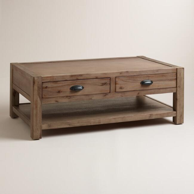 Wood Quade Coffee Table World Market