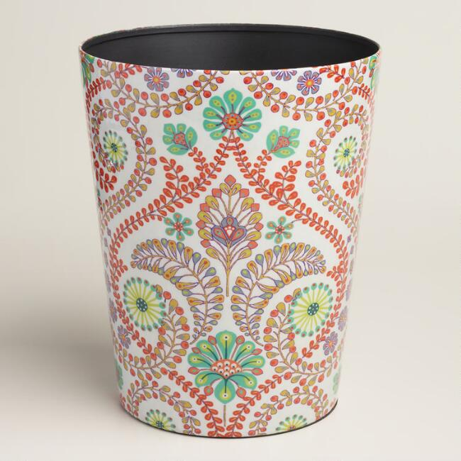 Coral Treetop Trash Can
