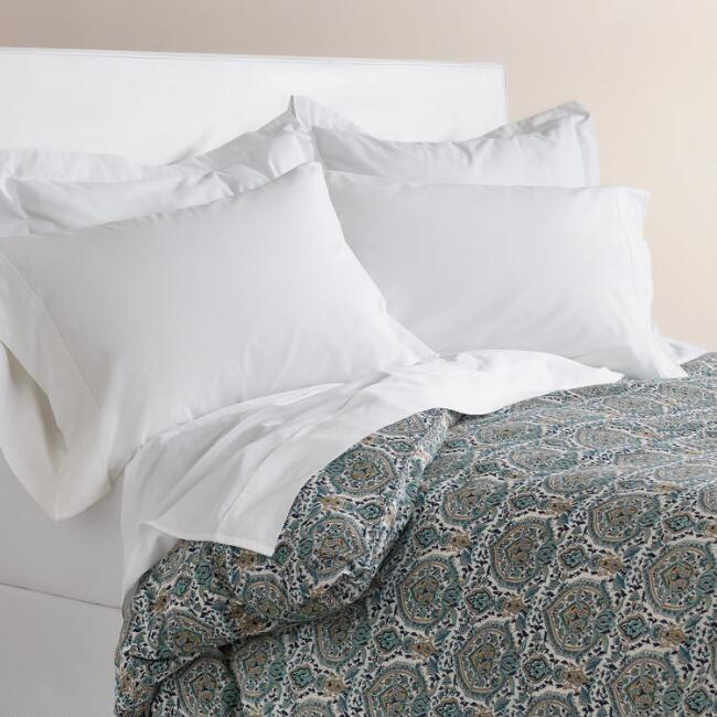 Mesha Blue Medallion Duvet Cover