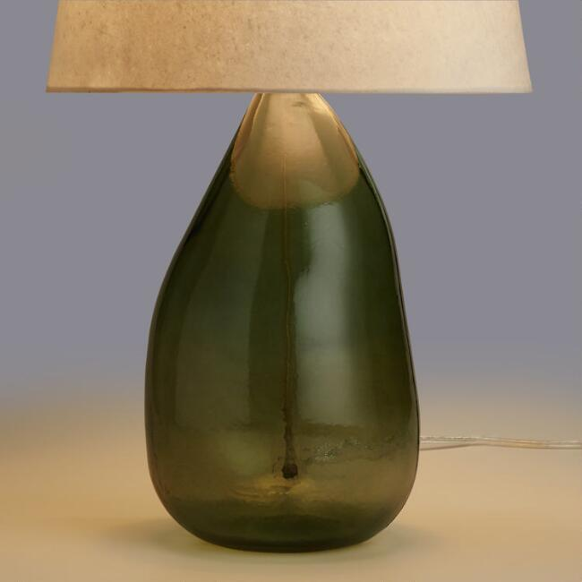 Sage Organic Recycled Glass Table Lamp Base