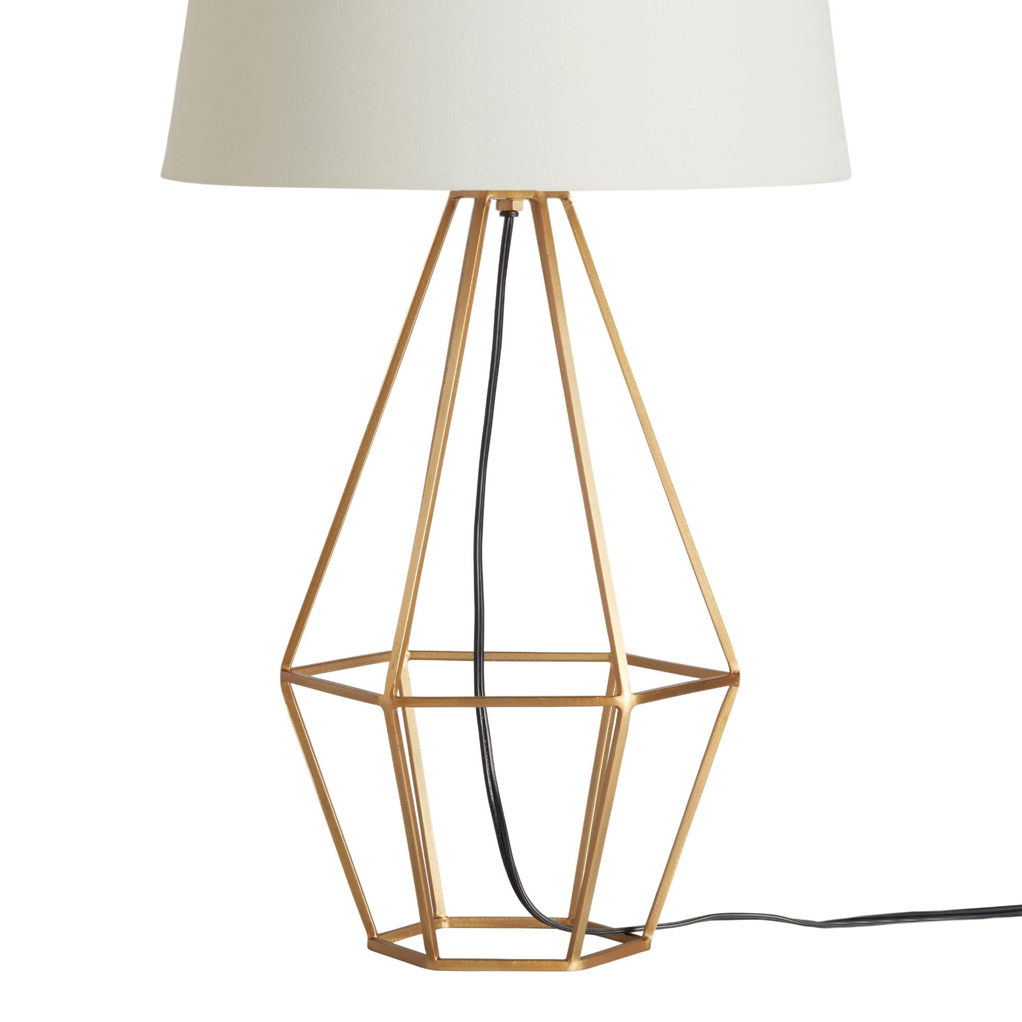 Brass diamond table lamp base world market geotapseo Image collections