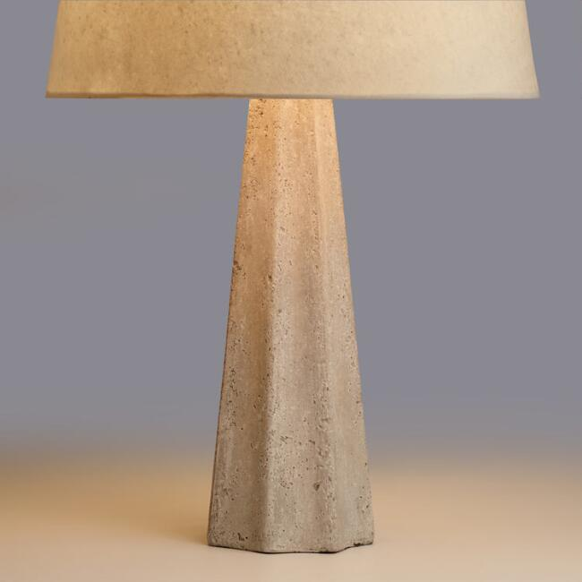 Concrete Pillar Table Lamp Base