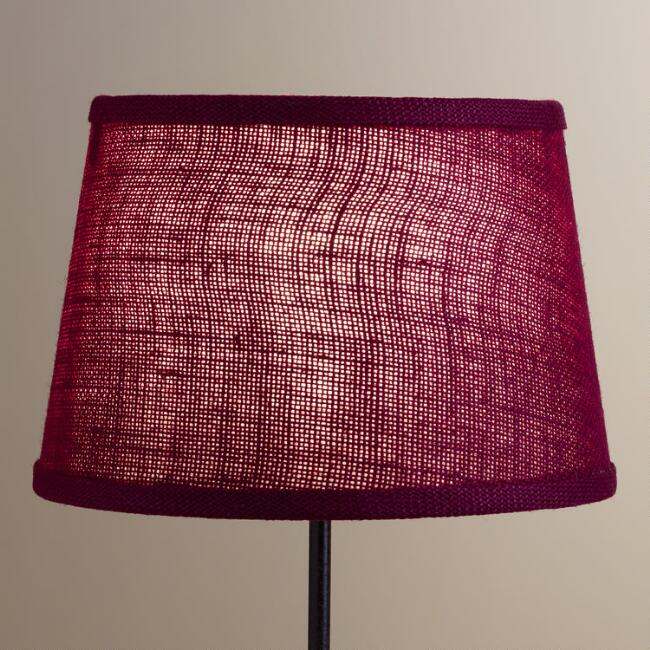 Wine Burlap Accent Lamp Shade