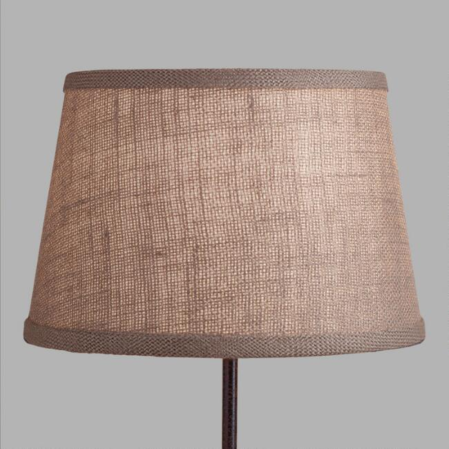 Walnut Burlap Accent Lamp Shade
