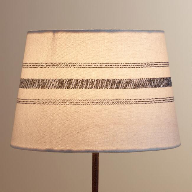 Blue french stripe accent lamp shade world market aloadofball Image collections