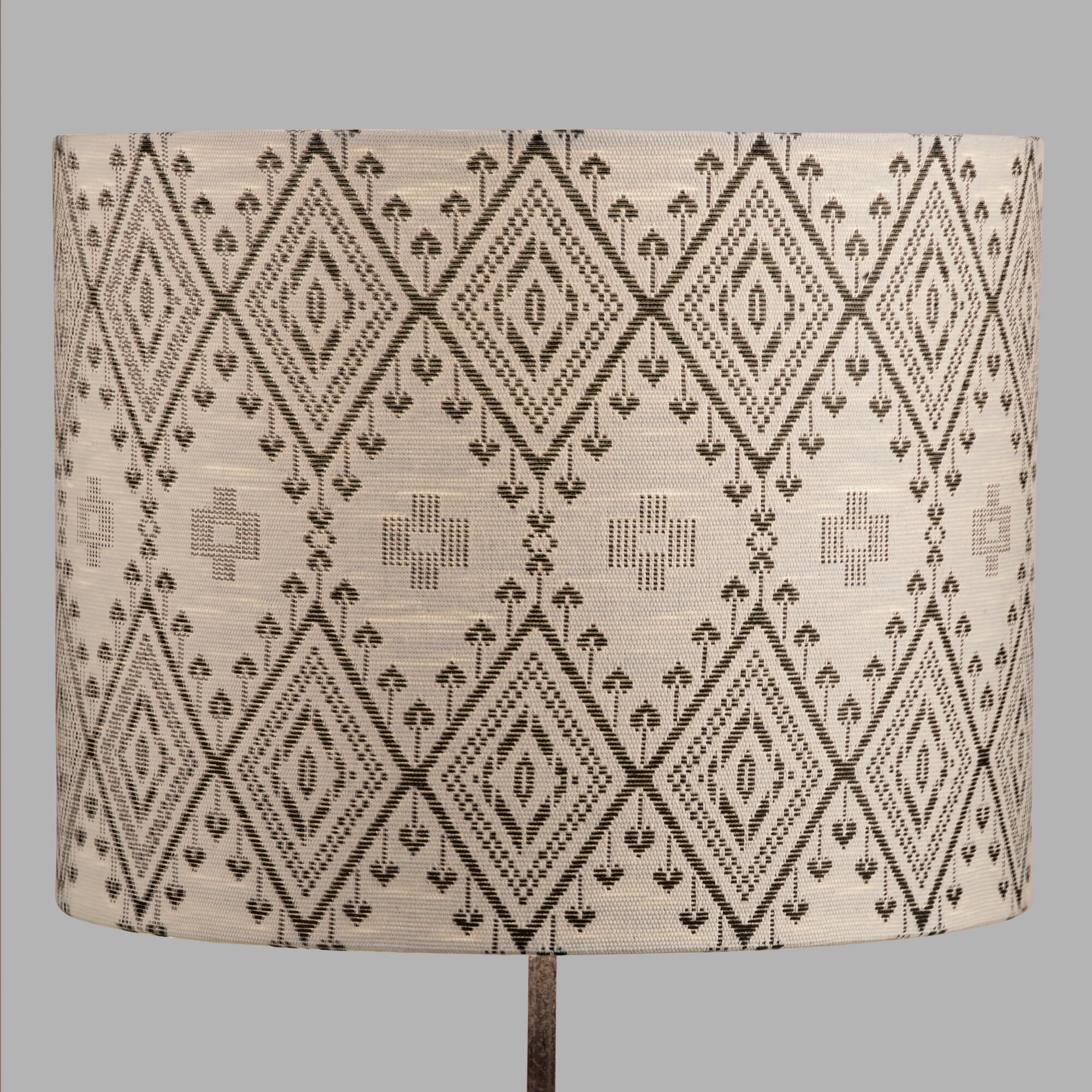 Table top lamps unique lamp shades world market tribal drum table lamp shade geotapseo Choice Image