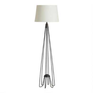 Black Iron Hairpin Kent Floor Lamp Base