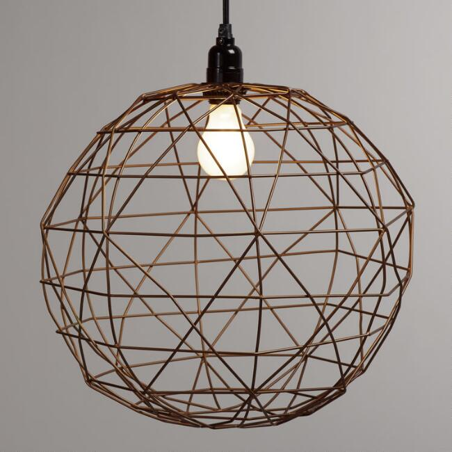 Bronze Round Twisted Wire Pendant Shade