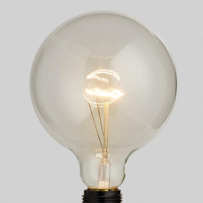 Amber Oversized Globe Filament Light Bulb