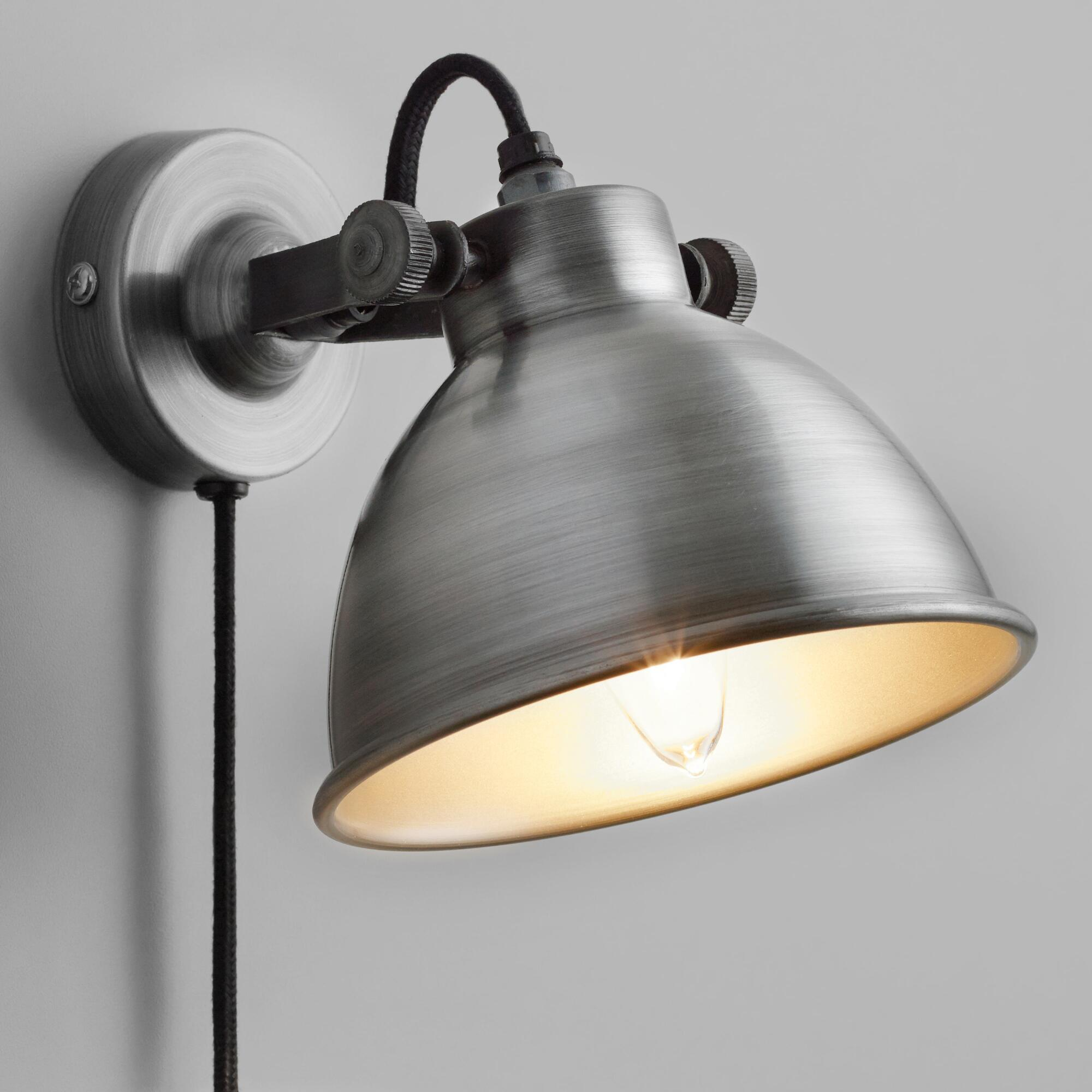 Sconces and wall sconce lighting world market aged zinc ethan wall sconce amipublicfo Image collections