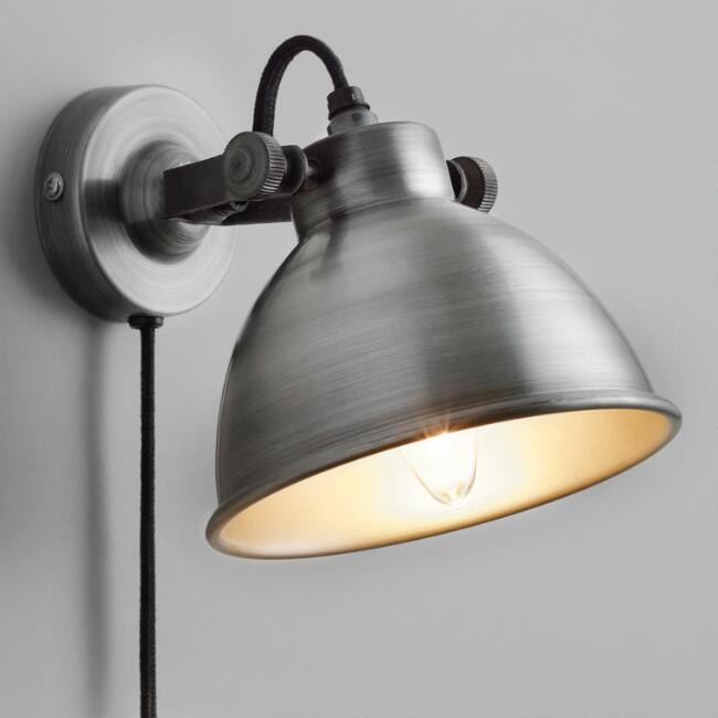 Aged Zinc Ethan Wall Sconce
