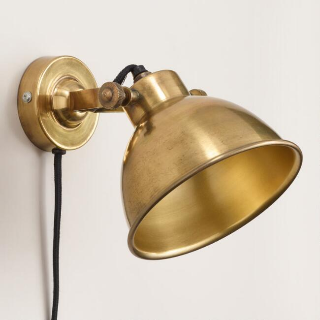 Brass ethan wall sconce world market