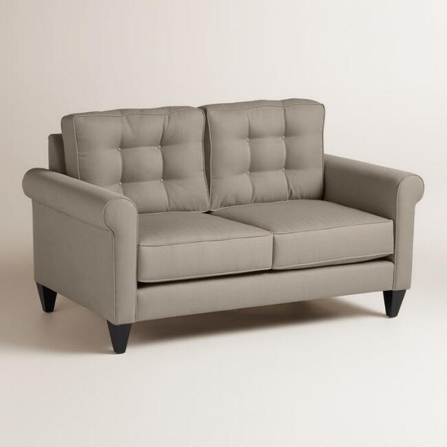 Textured Woven Bryson Upholstered Love Seat