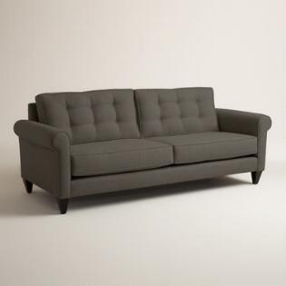 Charcoal Gray Quentin Chesterfield Sofa World Market